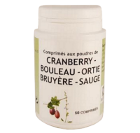 phytocontinence, cranberry, bouleau, ortie, bruyère, sauge